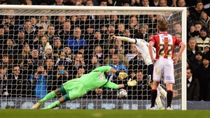 Andros Townsend hammers home the penalty that gave Spurs the win