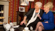 Pam St Clement with Barbara Windsor