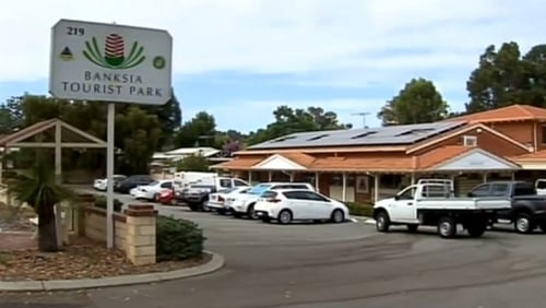 The group were staying at a caravan park outside Perth (Pic: 7News)