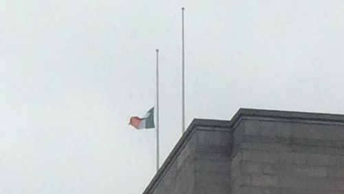 The gesture has been observed on only some State buildings due to the short notice given of the funeral