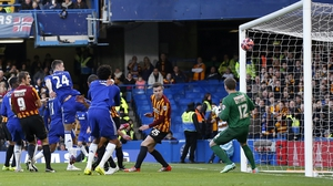 Chelsea defender Gary Cahill scores the opening goal