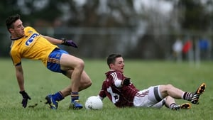 Roscommon's Neil Collins and Danny Cummins of Galway