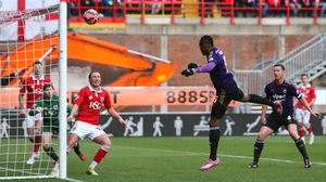 West Ham's Diafra Sakho heads home for the only goal of the game at Ashton Gate