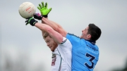 Tomas O'Connor of Kildare with Rory O'Carroll of Dublin