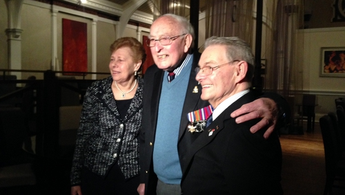 At the Mansion House this evening two Holocaust survivors meet the RAF veteran who freed them 70 years ago