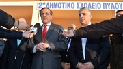 Antonis Samaras called Syriza leader Alexis Tsipras to congratulate him on winning the election