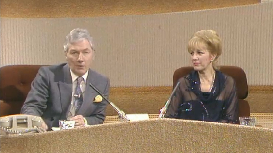 Gay Byrne and Shirley Eskapa
