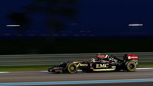Last season's Lotus F1 car