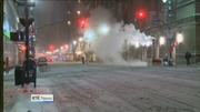 One News: Streets deserted as snow cripples US east coast