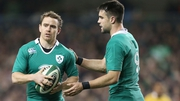 Eoin Reddan (L) and Conor Murray should be fit to travel to Rome for the Six Nations opener