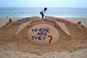 MH370 disappeared over the Indian Ocean with 239 passengers and crew on board last March
