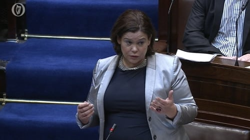 Mary Lou McDonald said it was extraordinary that the proposed inquiry was to be set up without debate