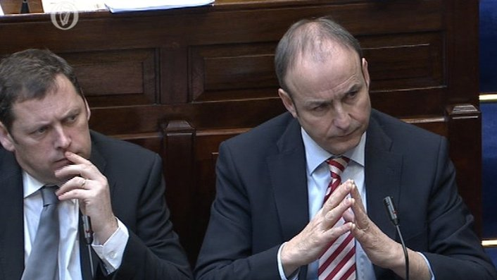 Taoiseach and Fianna Fáil leader clash over Fennelly report disclosure