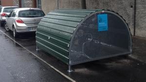 Dublin City Council installed a bike hangar on a street off Francis Street in south Dublin