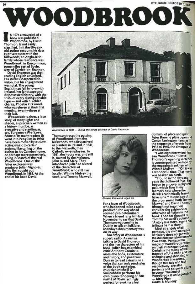 Woodbrook Article, RTE Guide, 3 October 1986, p26