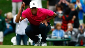 Tiger Woods struggled to make an impact at the Waste Management Phoenix Open
