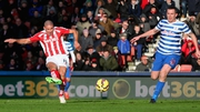 Jonathan Walters scores the first of his three goals