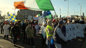 The Dublin rally was organised by local anti-water charge groups