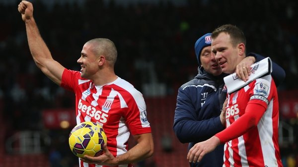 Jon Walters picked up the matchball, while Glenn Whelan played the full ninety in Stoke's victory