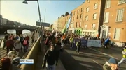 Nine News: Tens of thousands protest over water charges-