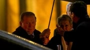Leonid Kuchma  leaves the meeting in Minsk after the talks ended
