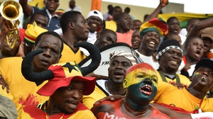 Ghana fans celebrating victory