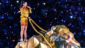 Katy Perry performing at the Super Bowl