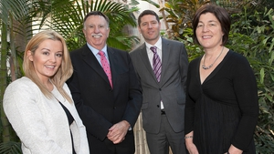 Dawn Walsh, Kernel Capital; Brendan Farrell, HiberGene CEO; Bank of Ireland's Kevin Healy and Margot Marsden, Enterprise Ireland