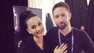 Katy Perry with Baz Halpin