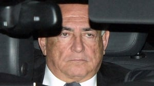 Dominique Strauss-Kahn being driven away from the court in Lille