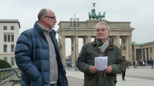 Close to Evil director Gerry Gregg with Tomi Reichental (Pic: Parxis Pictures)
