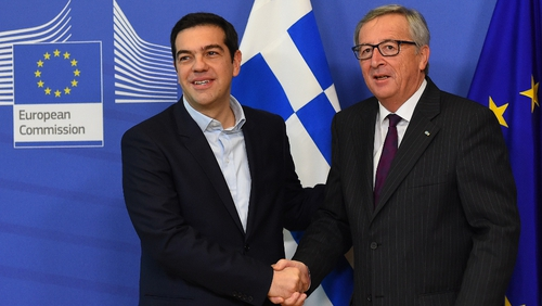 Commission President Jean-Claude Juncker and Greek leader Alexis Tsipras met in Brussels this morning