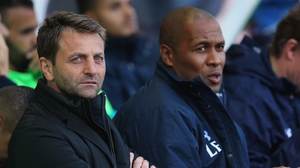 Les Ferdinand (R) worked with Tim Sherwood at Spurs, who is now favourite to be new QPR manager