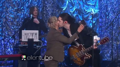 DeGeneres welcomed Hozier back to her show