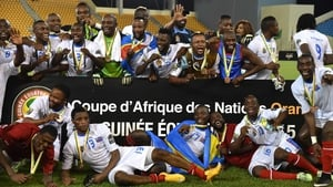 DR Congo players celebrate in Malabo