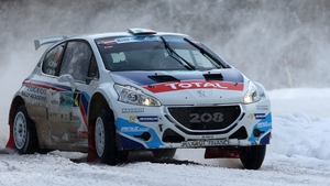 Craig Breen in action in Latvia