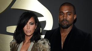West with his wife Kim Kardashian