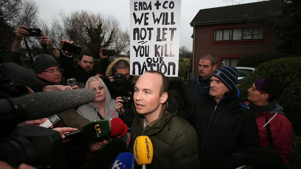 Socialist TD Paul Murphy joined the Tallaght protest