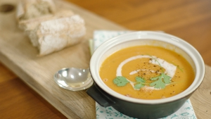 Neven Maguire's Sweet Potato and Coconut Soup with Ham
