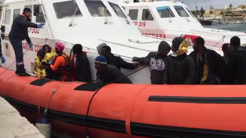 Migrants have finally been allowed to disembark in Lampedusa