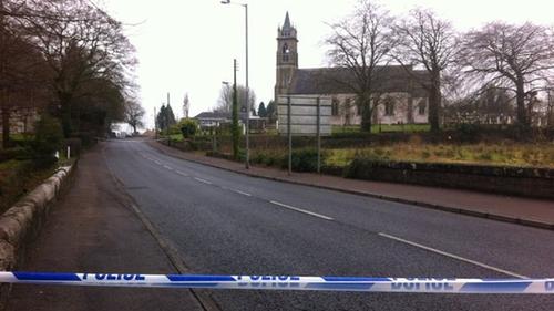 Bernard McGinley was shot outside St Mary's Church in Newtownbutler