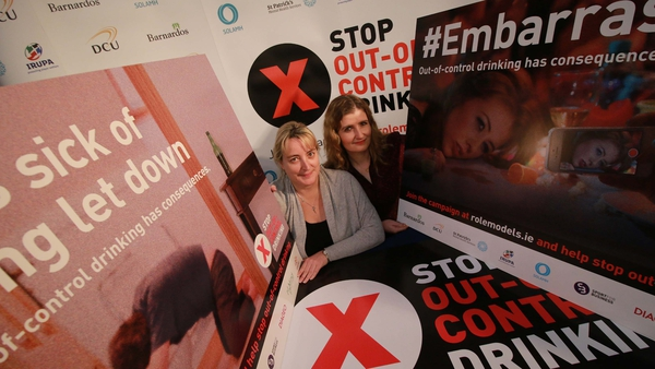 Aine Lynch (L), National Parents' Council (Primary), and Joanna Fortune, from Solamh, at the campaign launch