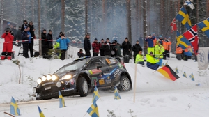 Pontus Tidemand in action at the Sweden Rally