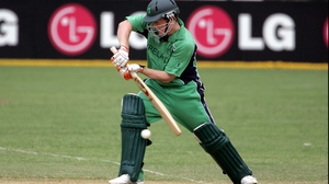Eoin Morgan in action for Ireland during the 2007 World Cup
