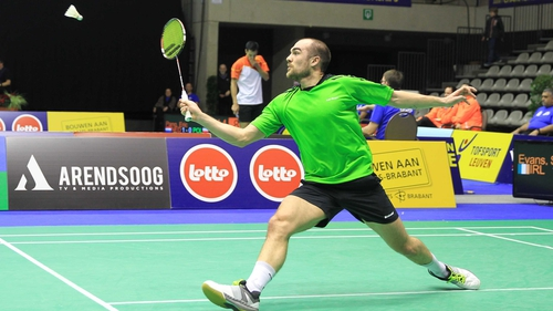 Scott Evans now faces eighth seed Viktor Axelsen from Denmark