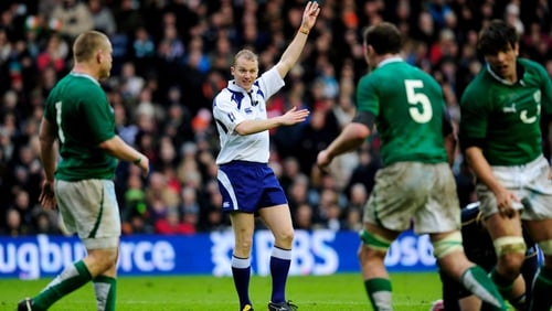 Wayne Barnes will be the man in the middle for Wales v Ireland