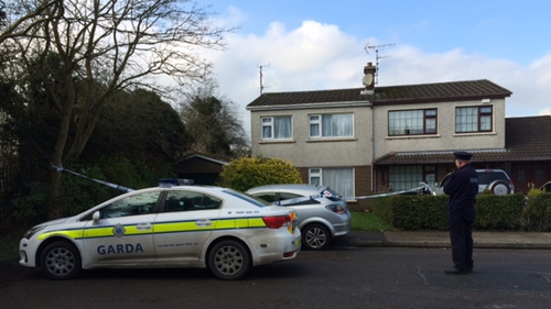 The scene at Oaklawn Estate in Dundalk where the man died