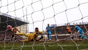 Jon Stead scores Bradford's second goal