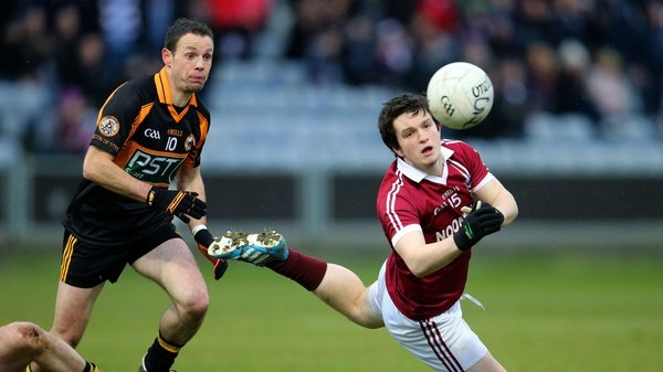 Austin Stacks' Mikey Collins (L) and Conan Cassidy of Slaughtneil