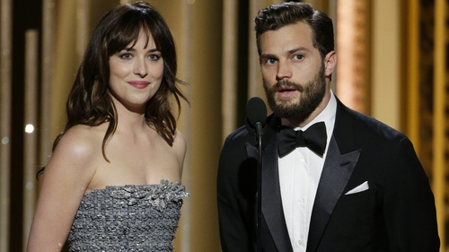 Johnson and Dornan - Film Fifty Shades of Grey has taken more than $528m worldwide